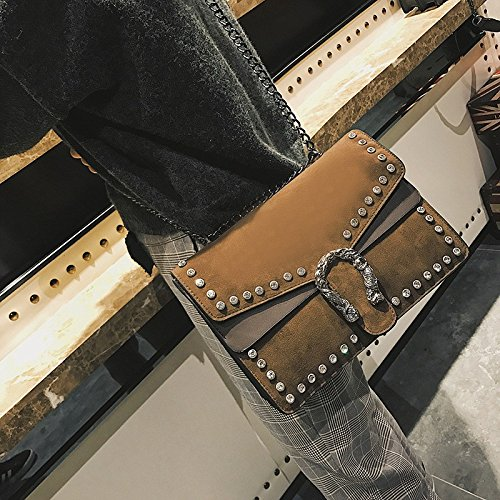single casual Ladies fashion Shoulder handbags skin lounge GMYAN Satchel simple Brown frosted t8qUww