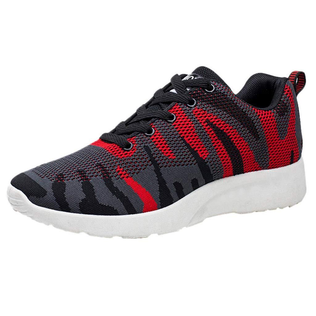 Chaussures ADESHOP Mode Hommes Occasionnels De Maille Extérieure De Chaussures De Sport Occasionnelles Courant Sneakers De Chaussures Respirantes De Course Antidérapant Confortable