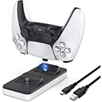 Premify Portable Charging Station for PS5 Controller, Dual PS5 Charging Dock, Controller Charger with 2 Removable Type C…