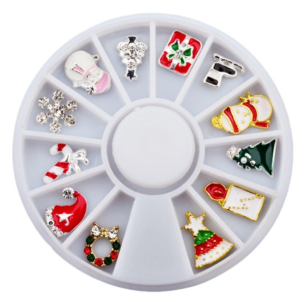 Molie Divers décoration strass de Noël mixte pour Nail Art ongles de charme conseils nouveau