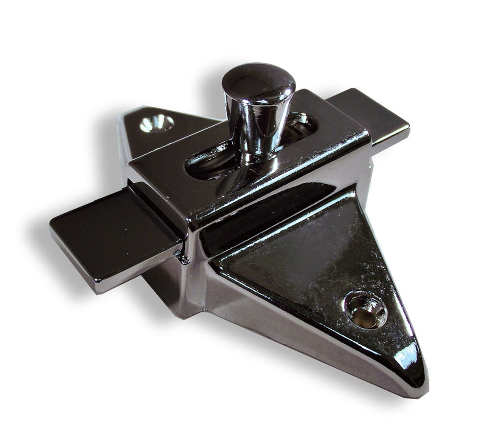 Chrome Plated Zamac Slide Latch for Restroom Partitions, 2-3/4'' Hole Spacing, Surface Mount