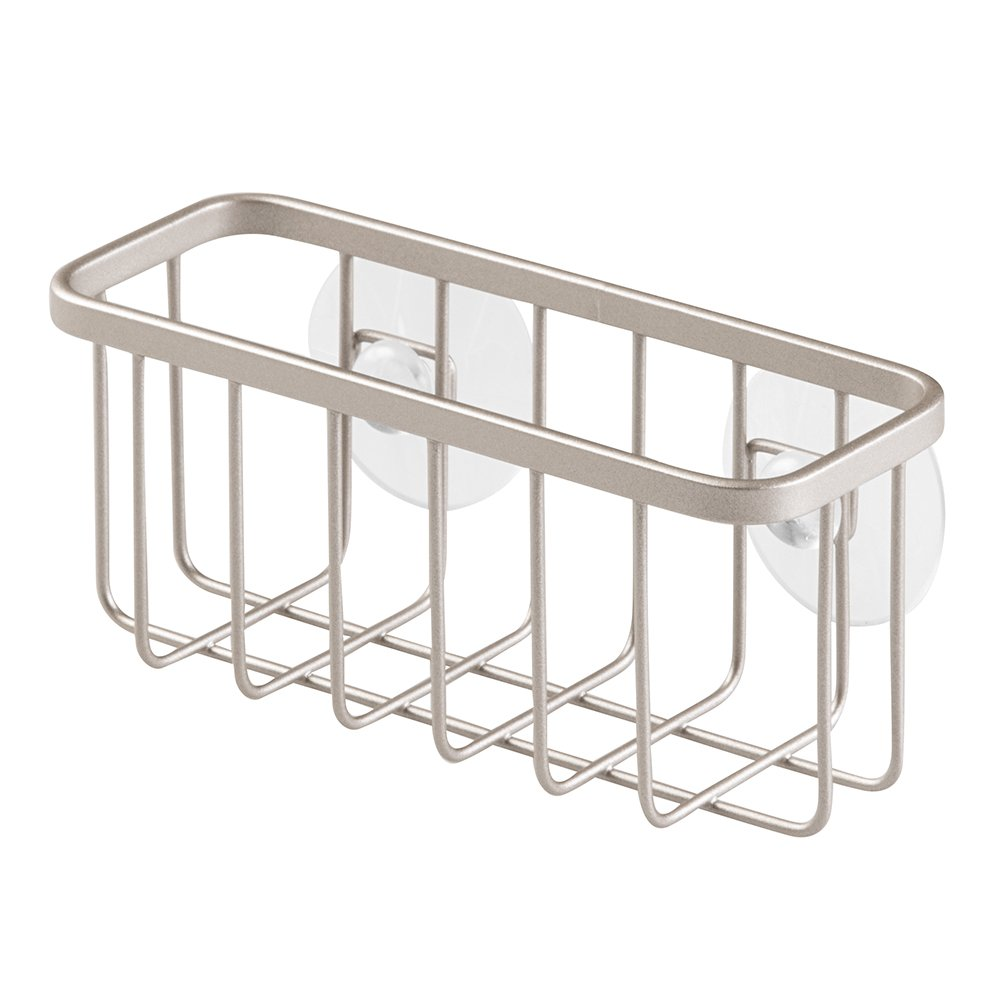 Amazon.com: InterDesign Gia Suction Kitchen Sink Caddy, Sponge ...