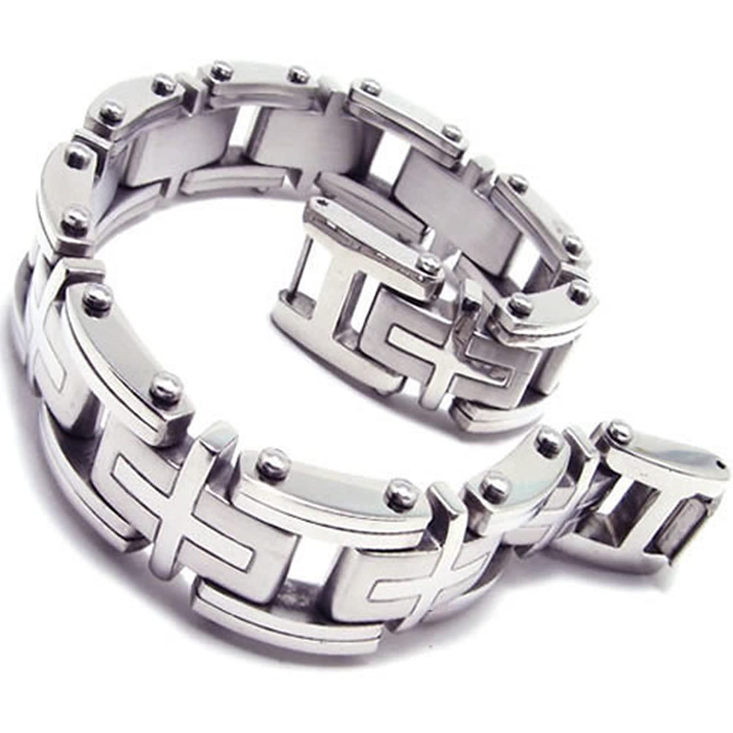 boys chain arrival new link jewelry sets bracelet mens item steel from in stainless silver byzantine necklace set gold box