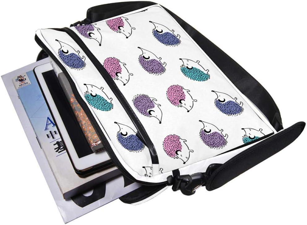 Lightweight 15 inch Laptop Bag Business Messenger Briefcases Colorful Hedgehog Babies Waterproof Computer Tablet Shoulder Bag Carrying Case Handbag for Men and Women