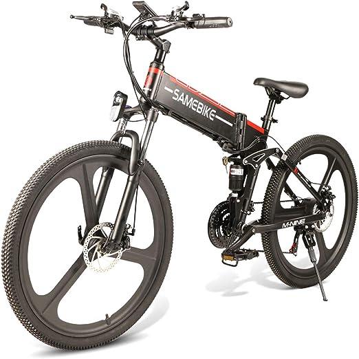 JsJr-K-In Bicicleta Eléctrica Plegable Plegable Bicicleta de ...