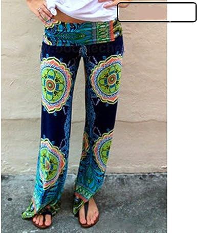 Mujer Pantalones Baggy Elegantes Pantalones Palazzo Floreadas Vintage Estilo Simple Fashion Casuales Anchas Comodo Elastische Taille Pantalones Verano Pantalones De Tiempo Libre Amazon Es Ropa Y Accesorios