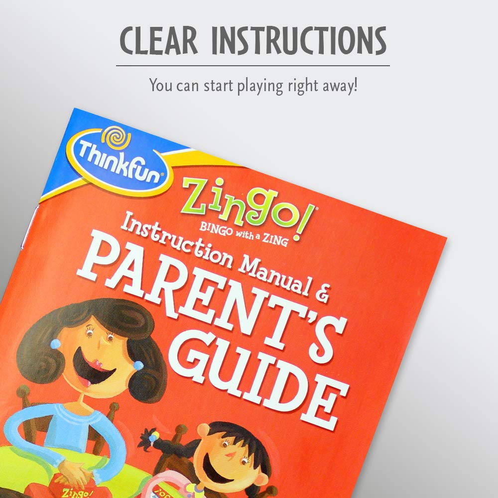 One of the Most Popular Board Games for Preschoolers and Their Families ThinkFun Zingo Bingo Award Winning Game for Pre-Readers and Early Readers Age 4 and Up