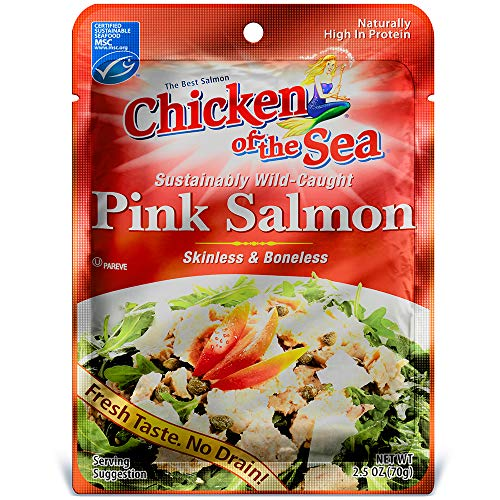Chicken of the Sea Premium Skinless & Boneless Pink Salmon, 2.5 oz.  (Pack of 12) (Salmon Sushi)