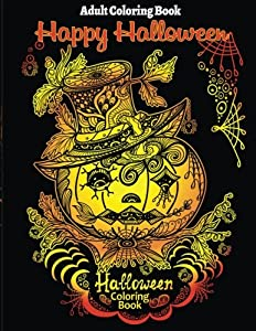 Adult Coloring Book Halloween For Stress Relieve And Relaxation
