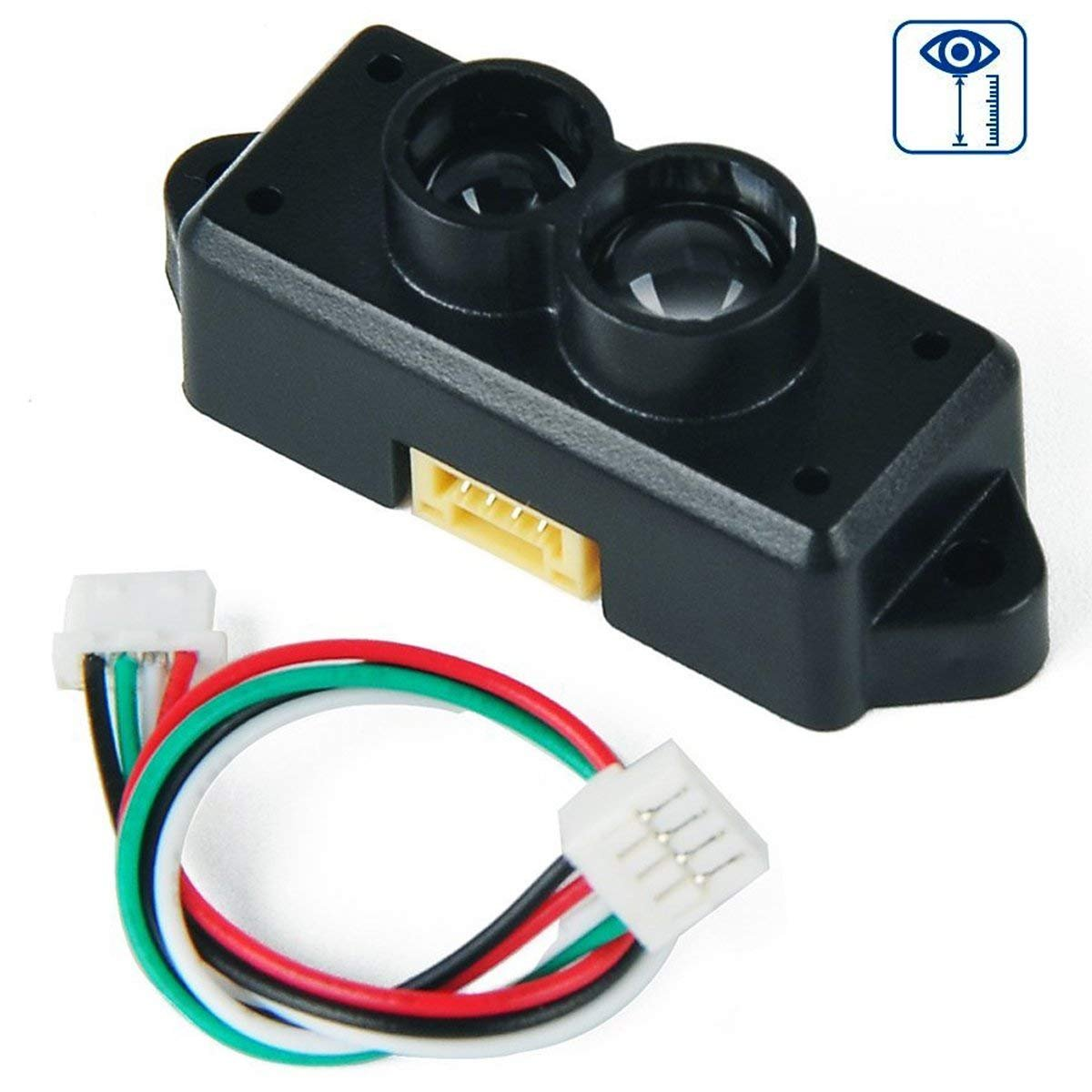 MakerHawk Infrared Distance Sensor Module with Cable include Infrared Emitting Diode and Signal Processing Circuit, Measuring Range 100 to 550 CM  for Projector and Amusement Equipment