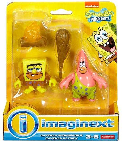Imaginext, Spongebob SquarePants, Caveman Spongebob & Caveman Patrick Exclusive Action Figures by Imaginext