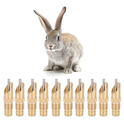Jeffergarden 10Pcs Bebedero de Conejo Fox automático Bebedero de ...