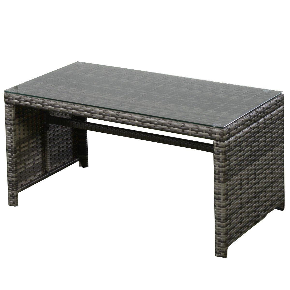 gray outdoor patio set. amazon.com: goplus 4 pc rattan patio furniture set garden lawn sofa cushioned seat wicker (mix gray): \u0026 outdoor gray e