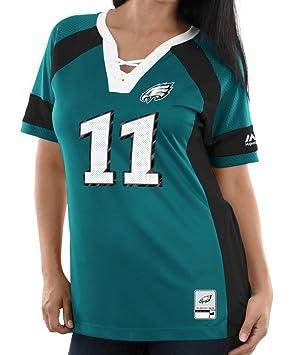 low priced ebf48 0f136 Carson Wentz Philadelphia Eagles Women's Majestic NFL ...