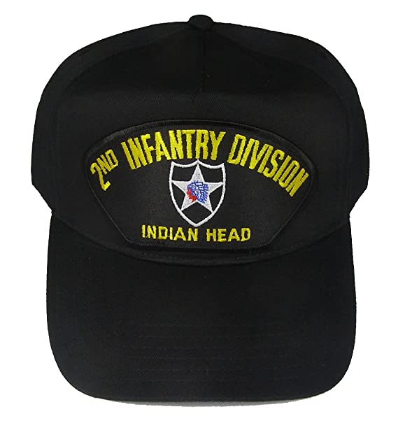 2fdf31411b8 Image Unavailable. Image not available for. Color  2nd INFANTRY DIVISION  VETERAN HAT with INDIAN HEAD ...