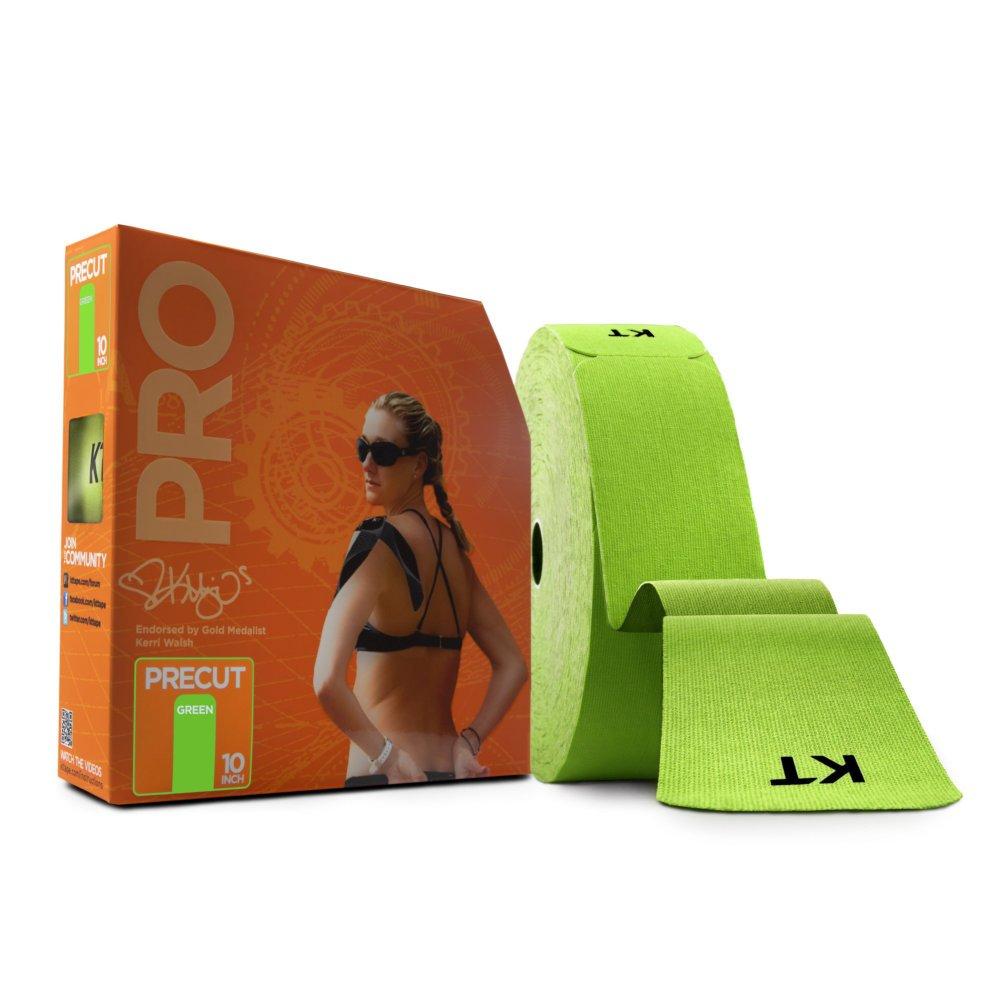 KT Tape PRO Synthetic Elastic Kinesiology Therapeutic Tape, Jumbo 150 Precut 10 Inch Strips, Winner Green