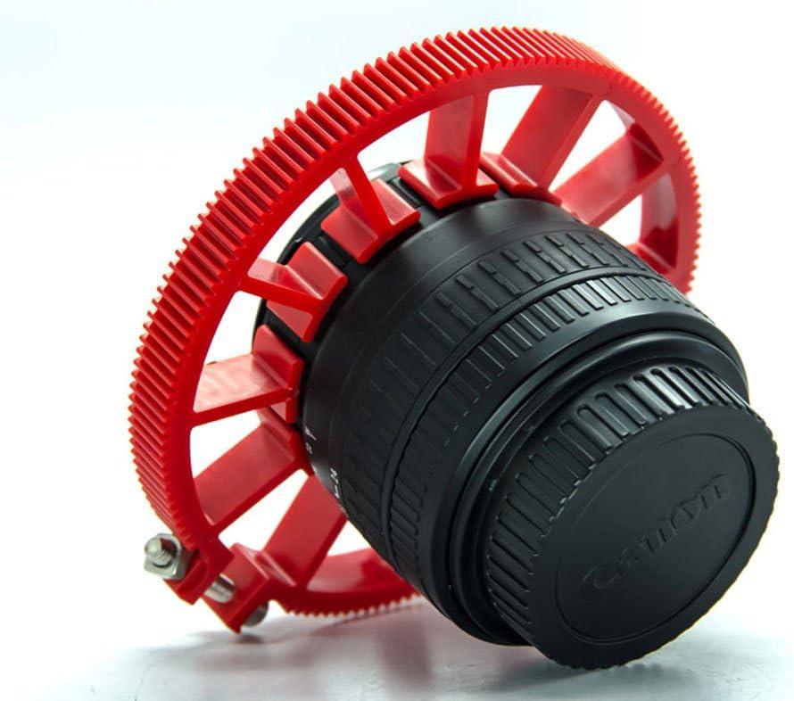 Cinematics DSLR Lens Gear Ring for Follow Focus Belt 60-70mm for DSLR Pro Mod 0.8 Red