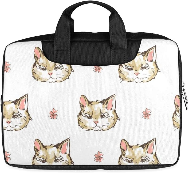 13 Inch A Cat with Bright Eyes Men Briefcase Laptop with Handle Lightweight Laptop Slim Briefcase Fits MacBook Air Pro