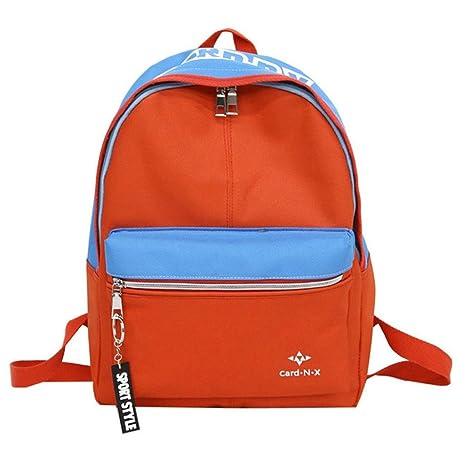 Mochila escolar unisex de moda – Saihui Color Patchwork ocio viaje niño mochila para adolescentes niñas