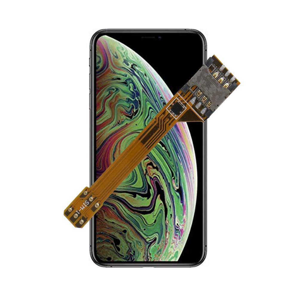 GVKVGIH Dual SIM Adapter Set for iPhone Xs, Switch 2 SIM Cards in 1 Phone Dual SIMs Single Standby Adapter(iPhone Xs) by GVKVGIH