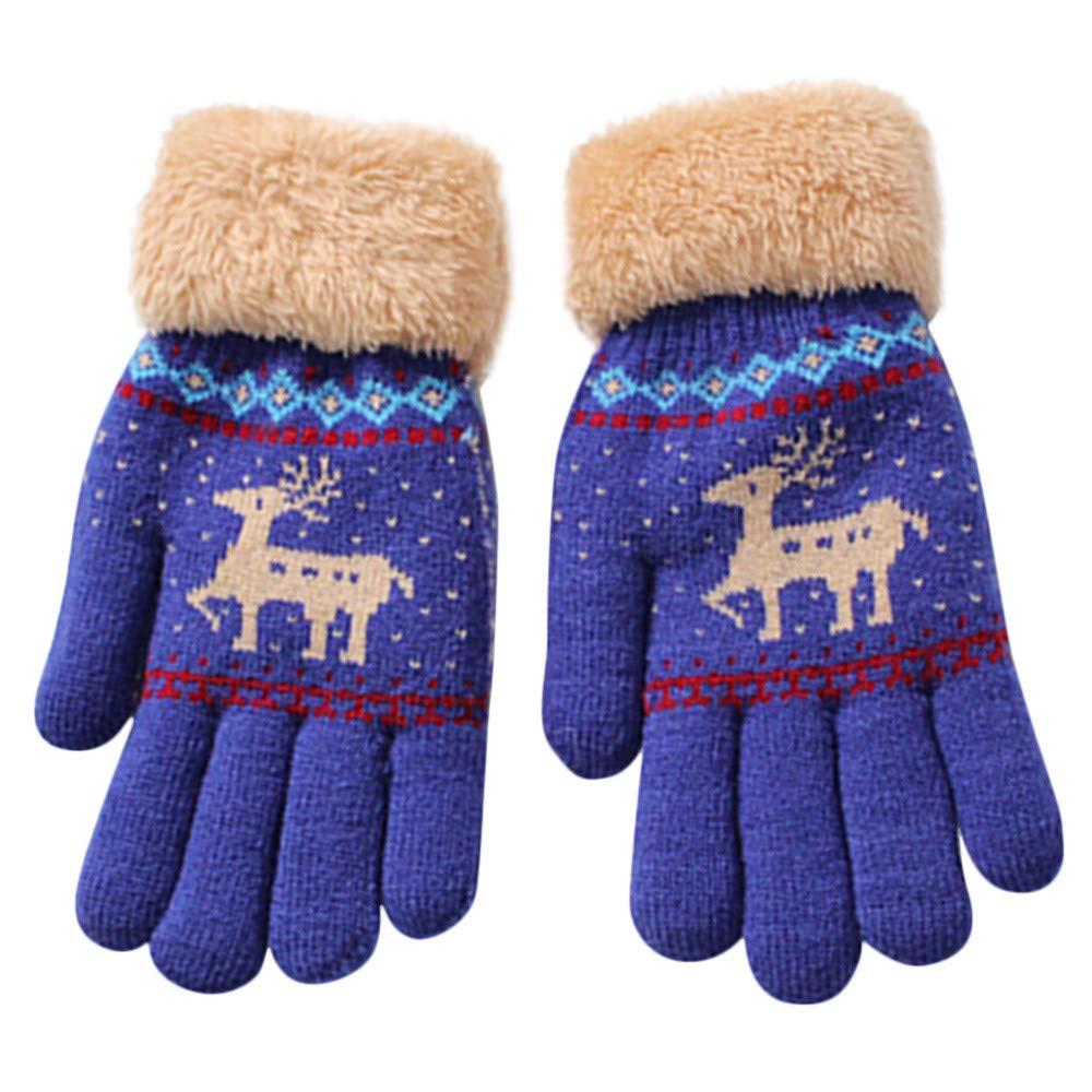 Lenfesh Winter Baby Kinder Finger Handschuhe Warme Gestrickte Stretch Handschuhe H/ände W/ärmer Unisex Jungen M/ädchen Fahrradhandschuhe Winterhandschuhe