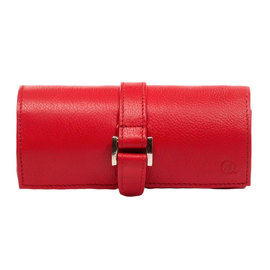 Hidepark Women's Leather Jewellery Roll One Size Pink HP10308_PNK
