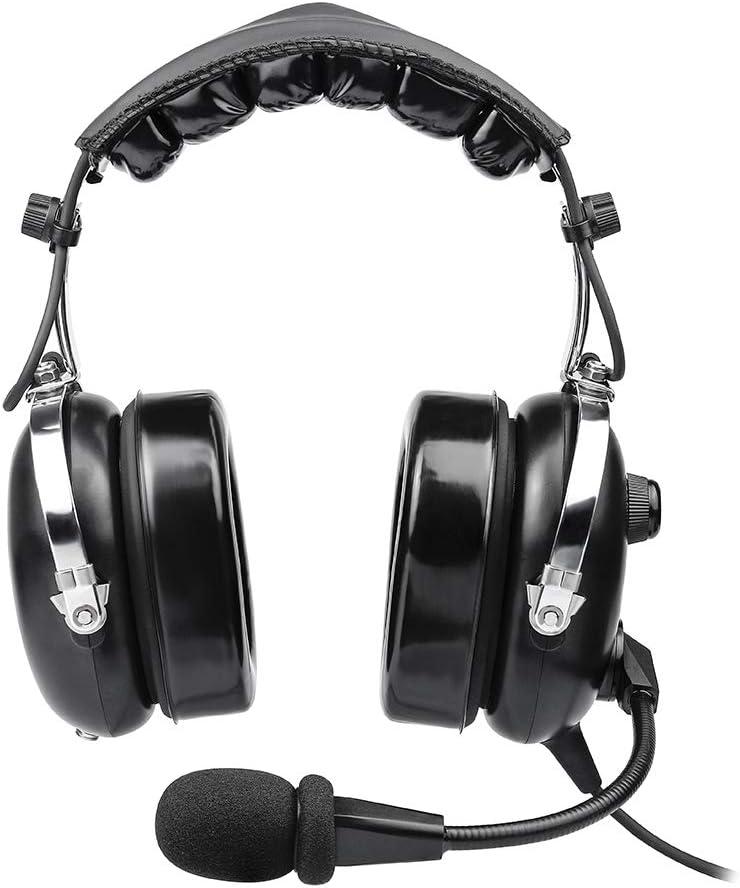 Auriculares de aviación para pilotos, PNR de aviación, sellos cómodos para los oídos, reducción pasiva de ruido, con funda de transporte: Amazon.es: Electrónica