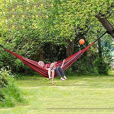 ANYOO HÄNGEMATTE_OUTDOOR BAUMWOLLE_MEHRPERSONEN 200_X 150_CM Camping-Schlafausrüstung Camping-Hängematten