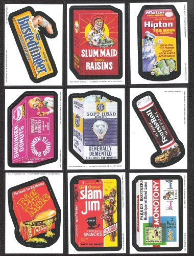Topps Wacky Packages Series 3 Complete Magnet Set of 9 Magnets -Great Product Parodies- Designed after the classic 70's sets !