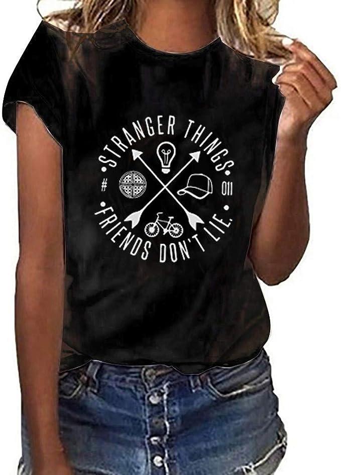 Kiminana Loose Tops Blouse T-Shirt,Womens Fashion V-Neck Print Sleeveless Top