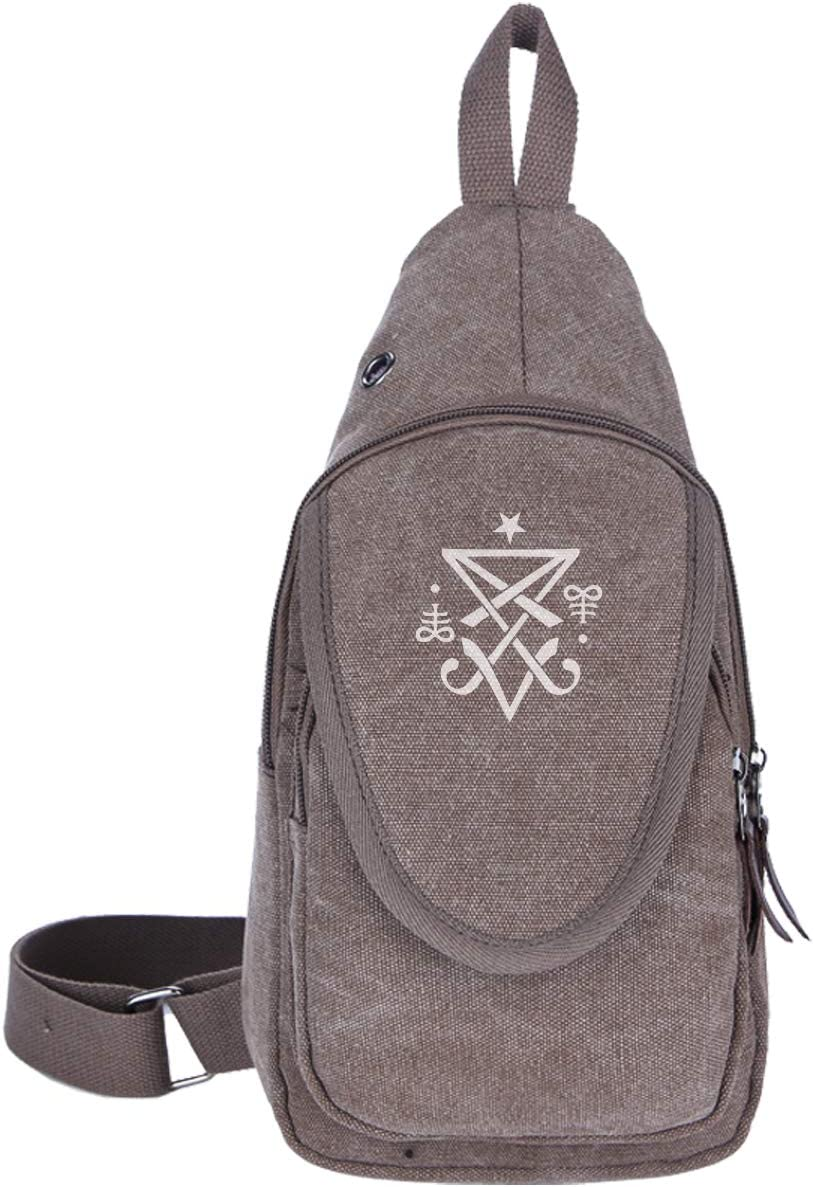 QINGQIAOLI Messenger Bag Chest Pack Sling Shoulder Bags Men Casual Crossbody Gray Large