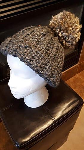 674c17bf8 Crochet Pompom Beanie Hat Toque Winter Ski Snowboard Cap: Amazon.ca ...