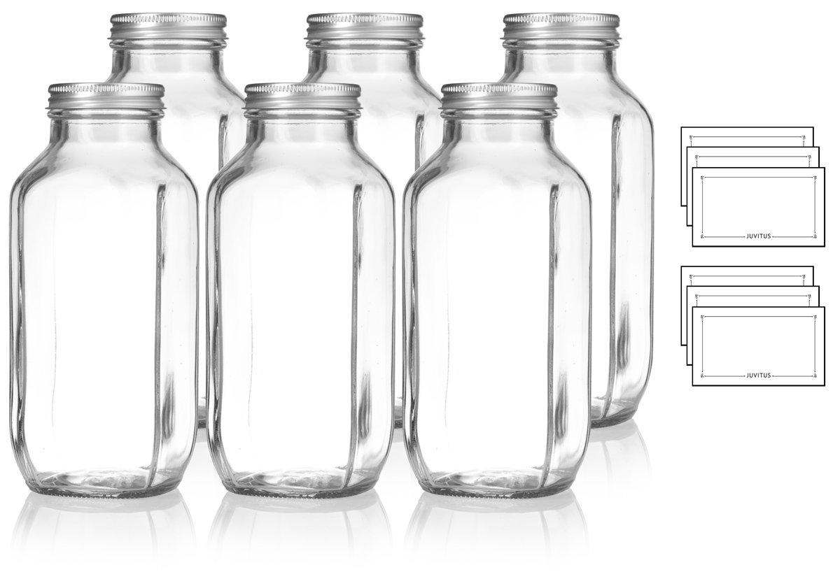 Amazon.com: 16 oz/16.2 fl oz transparente espesor de vidrio ...