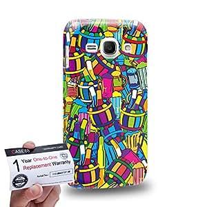 Case88 [Samsung Galaxy Ace 3] 3D impresa Carcasa/Funda dura para & Tarjeta de garantía - Art Abstract Drawing Beer