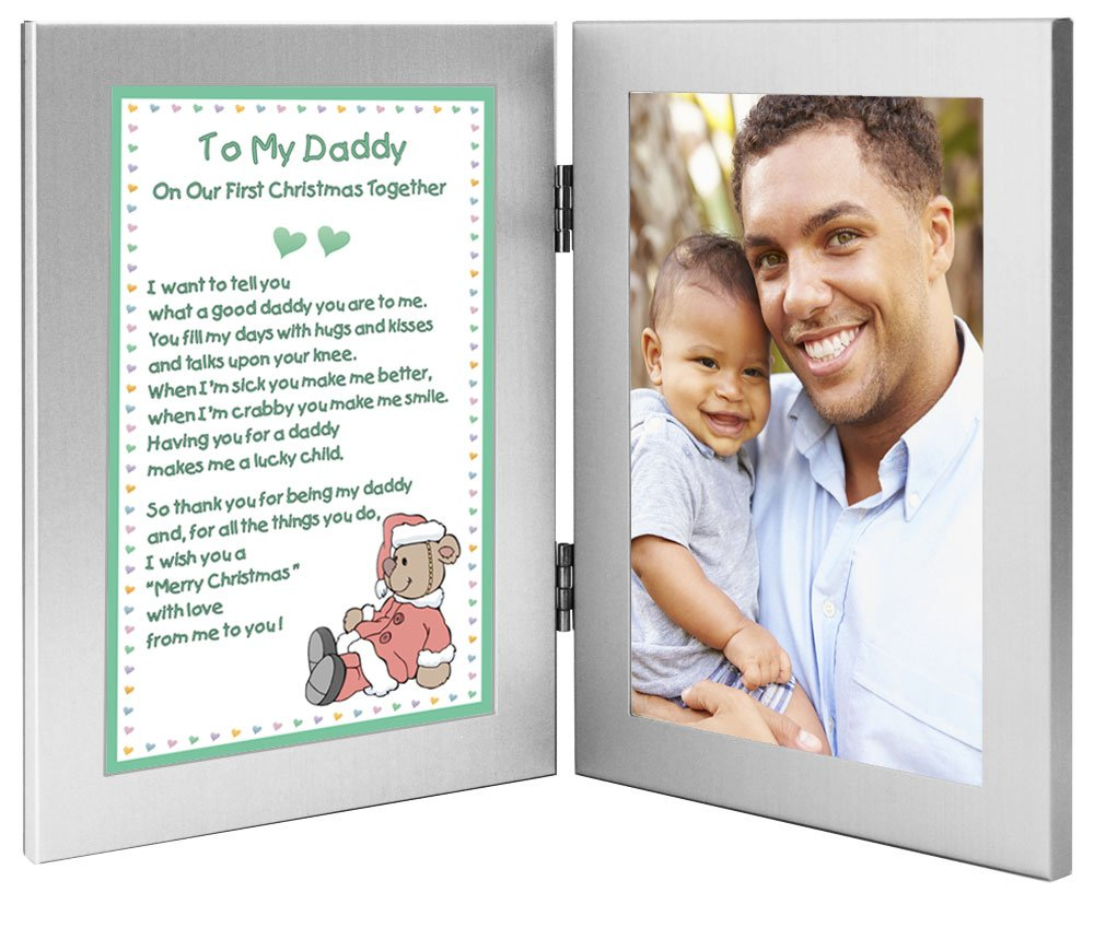 amazoncom christmas gift for new dad to my daddy on our first christmas together add photo to frame