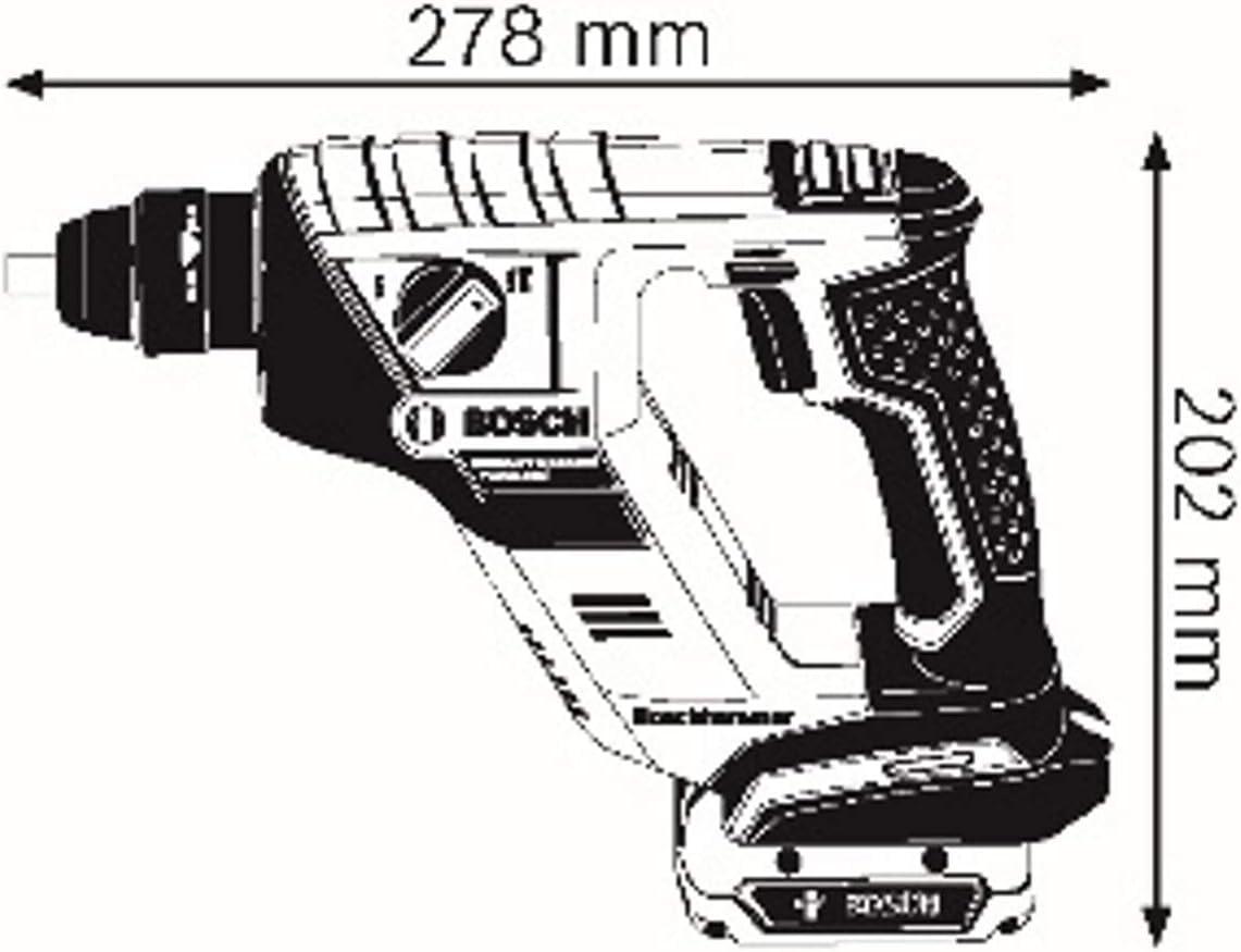 SDS Plus, Schlagenergie: 1 Joule, Bohr-/Ø max.: Beton//Stahl//Holz 12//8//16 mm, ohne Akkus und Ladeger/ät, im Karton Bosch Professional 18V System Akku Bohrhammer GBH 18 V-LI