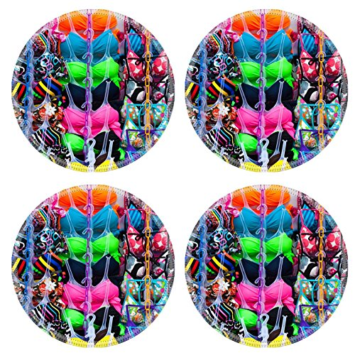 Liili Natural Rubber Round Coasters IMAGE ID: 14180913 stall of bikini in a free market