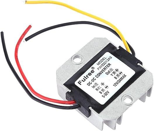 Demiawaking Automatischer Spannungsregler Dc Dc 5 32v Auf 12v 3a Spannungsregler Leistungswandler Auto
