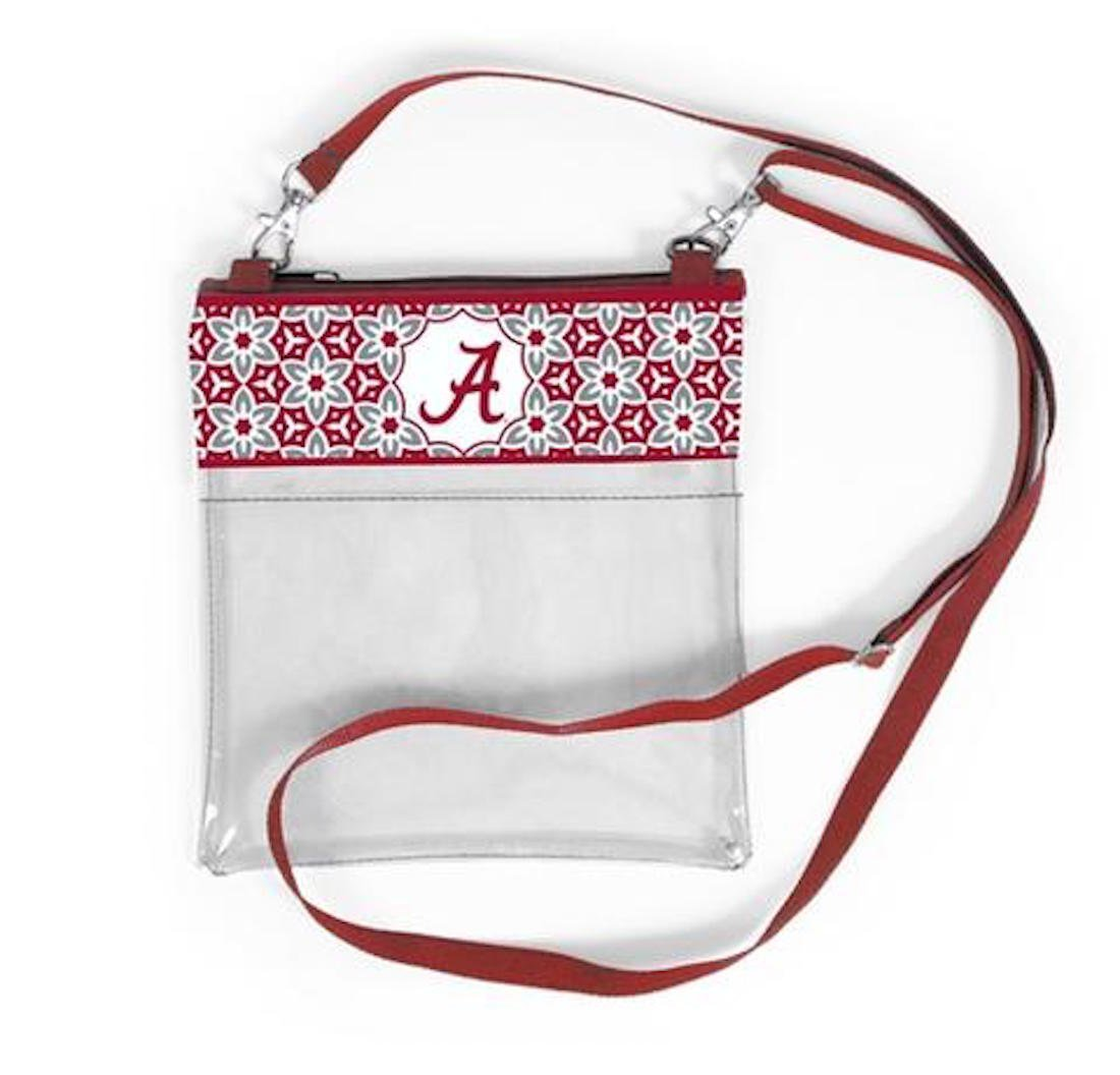 Desden Alabama Crimson Tide Clear Gameday Crossbody Bag