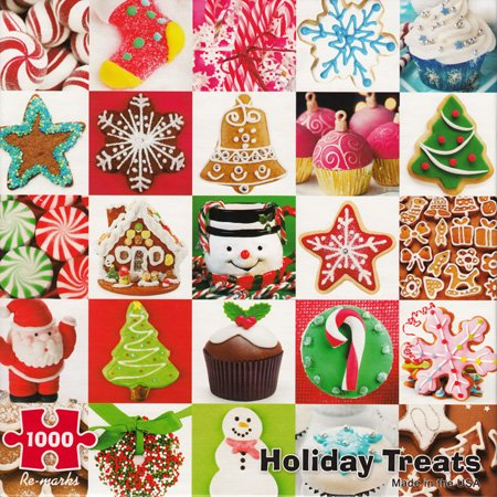 HOLIDAY TREATS1000 Piece Christmas Jigsaw Puzzle by Re-Marks