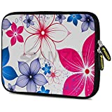 Amzer 7.9-10.5 Inches Designer Neoprene Sleeve Case for iPad/Tablet/e-Reader and Notebooks, Five Petals Bloom (AMZ5260105)
