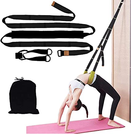 Pilates and Gymnastics Extra Long Yoga Belt Adjustable Exercise Band for Stretching Kueimovi Yoga Stretch Strap Physical Therapy Workout 7.2ft//2.4Meter