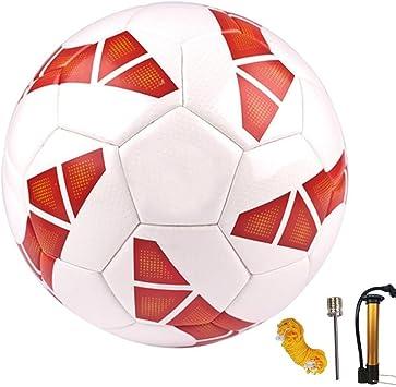 Senston Perfect Balones de Futbol Hombre Team Training Balón Incluido Bolsa de red / bomba / aguja de gas,Color Rojo,Tamaño 4: Amazon.es: Deportes y aire libre
