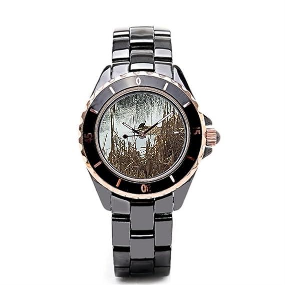 Queensland cerámica caso reloj Wildlife marca relojes tortuga: Amazon.es: Relojes