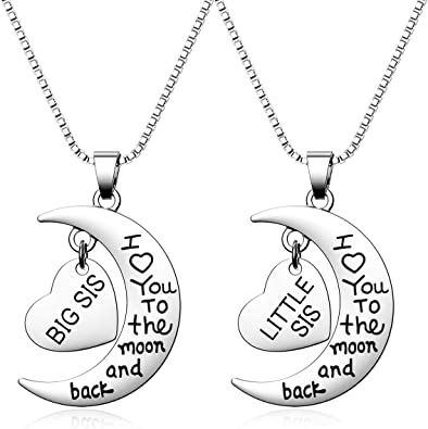 Side by side or mile apart we are sisters connected by the heart Big Sister Middle Little sister gift Gift for sister Sisters set of 3