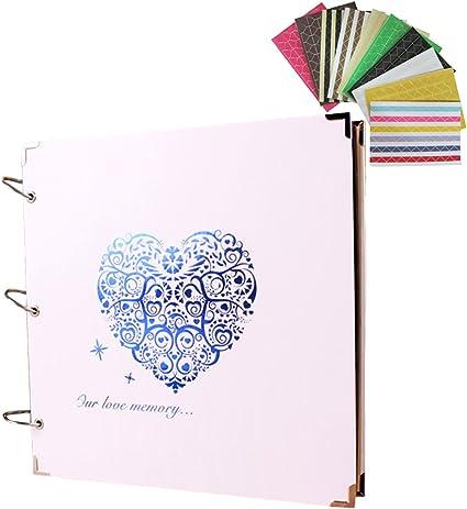 butteme Scrap Books DIY ¨¢lbum de fotos Dibujo Libros con 1?Pack adhesivo decorativo