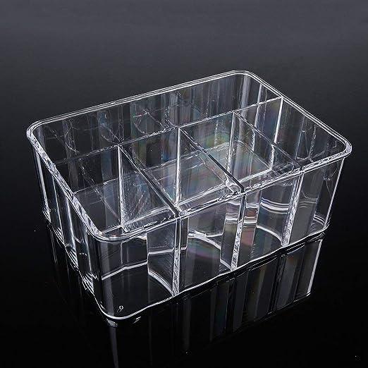 TAOHOU Fashion Clear Makeup Organizer Acrylic Storage Box Cosmetic ...