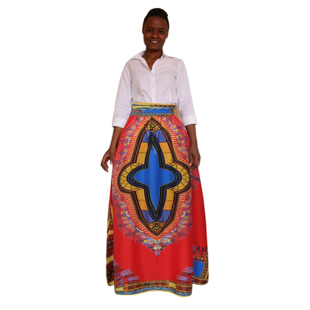 Conjunto 2018 verano para mujer africana Impresión Faldas Boho ...