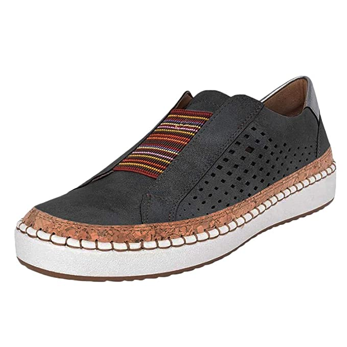 7ad2bcd4d146b Women Flats Sneakers, Limsea 2019 New Leather Casual Shoes Muffin Shoes  Sneakers