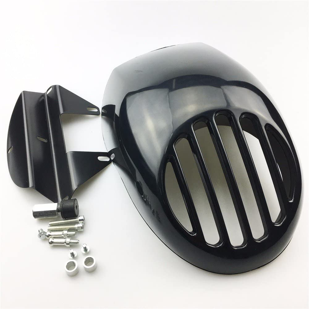 Front Headlight Fairing Mask Grill For Harley Sportster 883 1200 FX XL Dyna Cafe